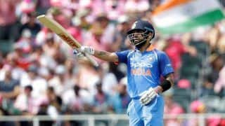 India vs West Indies 2nd ODI: Virat Kohli Slams 37th Ton, Surpasses Hashim Amla, Kumar Sangakkara to Become Fastest to 1000 Runs in Calendar Year And Records he Broke