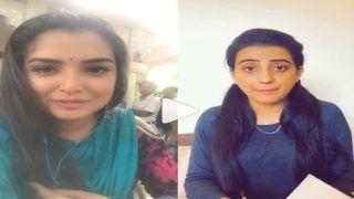 VIDEO: आम्रपाली दुबे ने इस अंदाज में अक्षरा सिंह को सिखाई ए,बी,सी, देख छूट जाएगी हंसी...