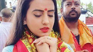 PICS: देवी का आशीर्वाद लेने रजरप्पा मंदिर पहुंची भोजपुरी एक्ट्रेस अक्षरा सिंह, नवरात्रि पर VIRAL हो रहा है VIDEO