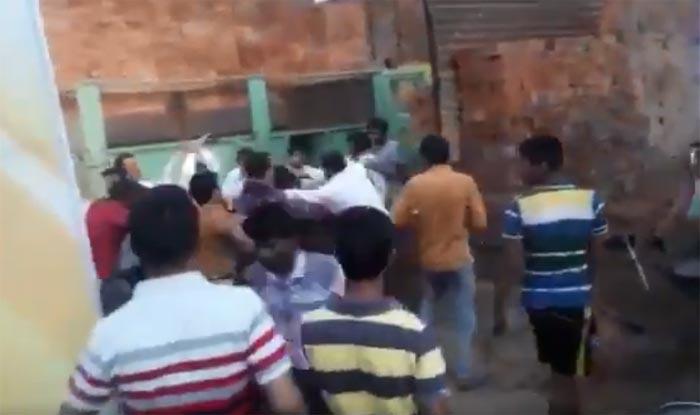 Image result for इंदौर जन आशीर्वाद यात्रा में मारपीट