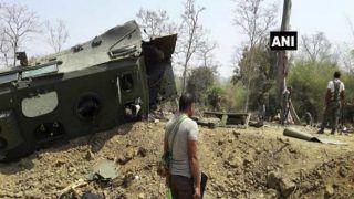 नक्सलियों ने बारूदी विस्फोट में सीआरपीएफ वाहन उड़ाया, चार जवान शहीद, दो घायल