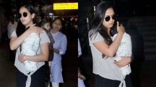 Shahid Kapoor's Wife Mira Rajput Spotted With Son Zain Kapoor And Daughter Misha Kapoor at The Airport, See Pictures