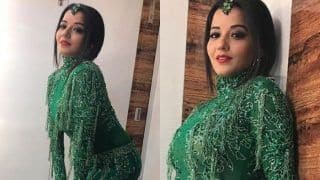 Bhojpuri Hot Bomb And Nazar Fame Monalisa Looks Stunning in Green as She Gets Ready For Her Performance at Star Parivaar Awards, See Pics
