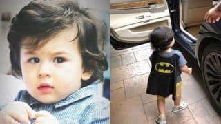 Saif Ali Khan And Kareena Kapoor Khan's Baby Taimur Ali Khan Shows His Love For Superheroes in This Latest Picture, Check