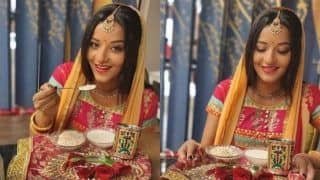 Bhojpuri Actress And Nazar Fame Monalisa Looks Beautiful in Ethnic Outfit as She Celebrates Karva Chauth, See Pictures