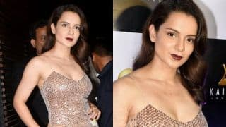Kangana Ranaut Redefines Hotness in a Shimmery Bodycon Dress at Manikarnika Wrap-up Party