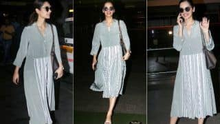 Miss World 2017 Manushi Chhillar Keeps it Comfy Yet Stylish in a Pastel Grey Long Dress And Barbie White Heals; See Pics