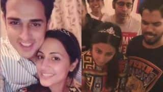Bigg Boss 11 Finalist Hina Khan Grooves to Sapna Choudhary's Teri Aakhya Ka Yo Kajal, Celebrates Birthday With Rocky Jaiswal And Priyank Sharma, Watch