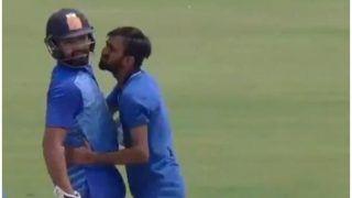 बिहार के खिलाफ क्रिकेट खेलते हुए चौंक गए रोहित शर्मा, जब मैदान पर घटी ये घटना