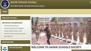 Sainik School Entrance Exam 2019: Results For Class 6, Class 9 Declared at sainikschooltvm.nic.in