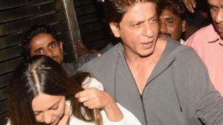PICS: जोया की पार्टी में पत्नी गौरी को बांहों में भरकर गाड़ी तक ले गए शाहरुख खान, नहीं पहुंचे फरहान अख्तर
