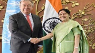 सुषमा स्वराज ने यूएन महासचिव एंटोनियो गुटेरेस से इन अहम मुद्दों पर की चर्चा