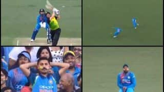 India vs Australia 3rd T20I: Rohit Sharma Drops a Sitter Off Aaron Finch, Krunal Pandya Disappointed   WATCH