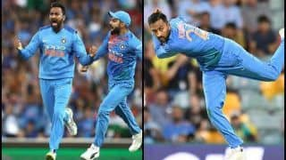 India vs Australia 3rd T20I: Krunal Pandya Impresses With Record-Breaking Spell at Sydney Cricket Ground, Registers Best Figures by a Spinner in Australia in T20Is   WATCH
