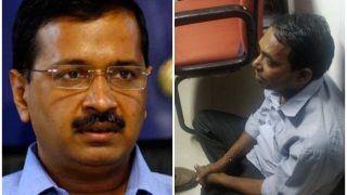 VIDEO में देखें दिल्ली के सीएम अरविंद केजरीवाल पर फेंका मिर्च पाउडर, चश्मा टूटा, आरोपी गिरफ्तार