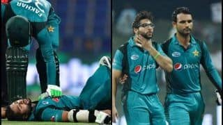 Pakistan vs New Zealand 2nd ODI: Injury Scare as Imam ul Haq Gets Hit on The Grille of His Helmet by a Ferocious Bouncer From Lockie Ferguson -- WATCH
