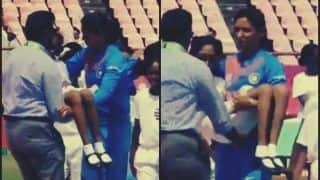 India Women vs Pakistan Women, ICC Women's World T20: India Captain Harmanpreet Kaur Carries Mascot After She Falls Ill During National Anthem Will Melt Your Heart -- WATCH