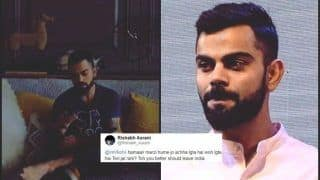 Twitter Lashes Out at Virat Kohli For Suggesting a Fan to Leave India