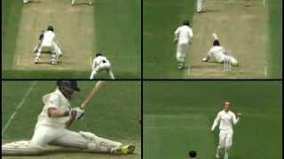 Cricket Australia XI vs India: Daniel Fallins Delivers a Shane Warne-Like Delivery to Bowl Prithvi Shaw Round His Legs | WATCH