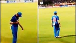 India vs West Indies 2018 ODIs: Rohit Sharma, Virat Kohli And Their Contrasting Reactions to Crowd Cheering Their Names During Mumbai ODI -- WATCH