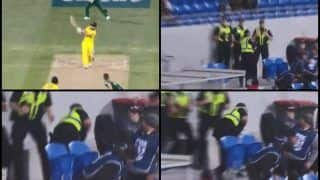 Australia vs South Africa 3rd ODI: Shaun Marsh Slams Massive Six, Security Officer Catches It In Stands But Tumbles Over -- WATCH