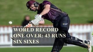 World Record Alert! Central Districts' Joe Carter And Brett Hampton Smash Six Sixes, 43 Runs in an Over in List A Cricket -- WATCH