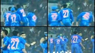 India vs West Indies 2nd T20I Lucknow: Indian speedster Khaleel Ahmed Smacks Rohit Sharma on The Face -- WATCH