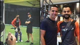India vs Australia 2018: After Tim Cahill, India Captain Meets Adam Gilchrist Ahead of 1st T20I | PICS