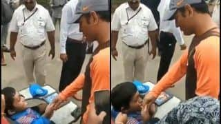 India vs West Indies 5th ODI at Trivandrum: MS Dhoni Meets Specially-Abled Fan, Clicks Pictures and Gives Autograph -- WATCH