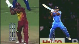 India vs West Indies 1st T20I: Keemo Paul Tries to Do an MS Dhoni, Fails Miserably Attempting The Helicopter Shot -- WATCH