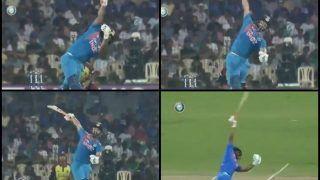 India vs West Indies 3rd T20I at Chepauk: Rishabh Pant's One-Handed Six of Kieron Pollard Overshadows Shikhar Dhawan's Brilliance as India Beat Windies by Six Wickets -- WATCH