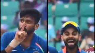 India vs West Indies 5th ODI at Trivandrum: Khaleel Ahmed's Celebration After Romvan Powell's Wicket Makes Virat Kohli Chuckle -- WATCH