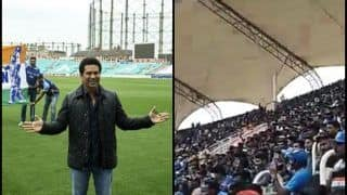 India vs West Indies 5th ODI: Not Virat Kohli or MS Dhoni, Crowd at Trivandrum Chant 'Tendulkar, Tendulkar' Shows he May Have Retired From Cricket But Not Hearts -- WATCH