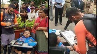 India vs West Indies 5th ODI: Virat Kohli Meets Special Fan Ahead of Match, Gives Him a Special Gift -- WATCH