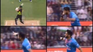 India vs Australia 2nd T20I Melbourne: Fiery Khaleel Ahmed Gives Send-Off to D'Arcy Short After Getting Him Clean Bowled | WATCH