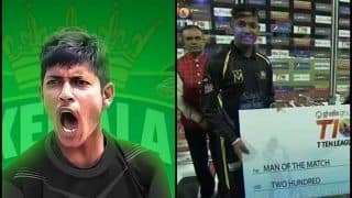T10 League 2018: Kerala Knights vs Pakhtoons: Sandeep Lamichhane Bags Man of The Match With Three Wickets | WATCH