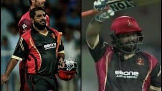 T10 Cricket League: Sindhis vs Rajputs: Mohammad Shahzad Slams Record-Breaking 74 Runs Off 16 Balls, Takes T10 League 2018 by a Storm | WATCH
