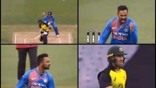 India vs Australia 2nd T20I Melbourne: Krunal Pandya Gets Glenn Maxwell With a Peach of a Delivery | WATCH VIDEO