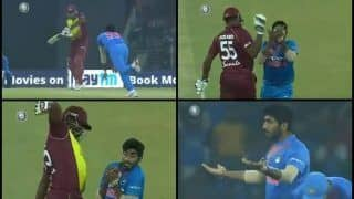 India vs West Indies 2nd T20I Lucknow: Jasprit Bumrah Upset After Taking Kieron Pollard's Catch as Mumbai Indians Teammate Almost Gets in The Way -- WATCH