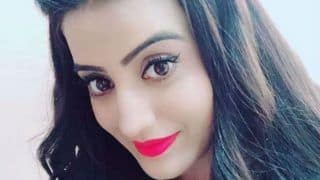 Bhojpuri Sizzler Akshara Singh Looks Super Hot in Shimmery Dress And Red Lips - See Picture