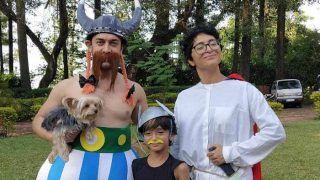 अजीबोगरीब ड्रेस में नजर आए आमिर खान, बच्चों के साथ खूब की मस्ती, देखिए Photos
