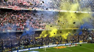 Boca Juniors Arrive at Real Madrid's Santiago Benabeu Ahead of  Copa Libertadores Final