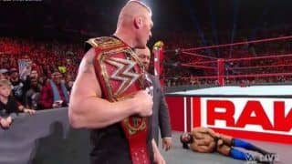 WWE RAW: Brock Lesnar Brutally Attacks Indian Trio Jinder Mahal And 'The Singh Brothers' - Watch Video