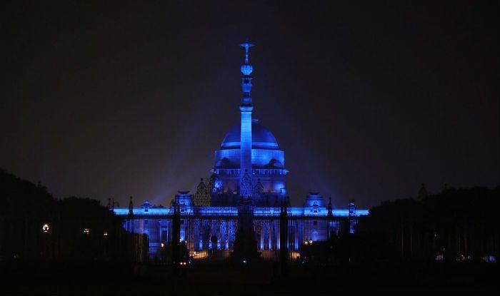 The Rashtrapati Bhawan Went Blue on The Eve of The World Children's Da...