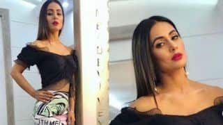 Bigg Boss 11 Finalist And Komolika of Kasautii Zindagii Kay, Hina Khan Looks Hot AF as She Flaunts Her Washboard Abs in Black Crop Top And Skirt - See Picture