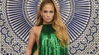 Jennifer Lopez Looks Hot AF at 49 as She Strikes Semi-Nude Pose Draped in Just a Green Sequin Cape