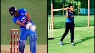 Aakash Chopra Aces MS Dhoni's Signature Helicopter Shot With Perfection | WATCH VIDEO