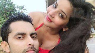 Bhojpuri Hottest Bomb And Nazar Fame Monalisa Looks Her Sexiest Best in Red Bikini and Lips as She Poses With Her Husband Vikrant Singh Rajput - See Picture