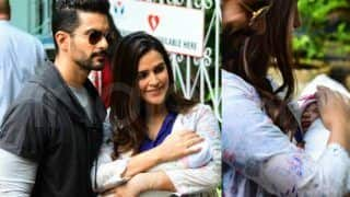 Neha Dhupia And Angad Bedi Take Baby Daughter Mehr Dhupia Bedi Home From Hospital; Check Out Latest Pics