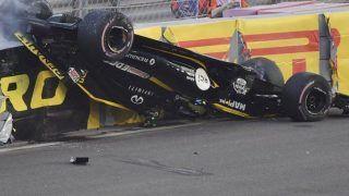 Nico Hulkenberg Suffers Horrific Crash At Abu Dhabi Grand Prix : Watch Video
